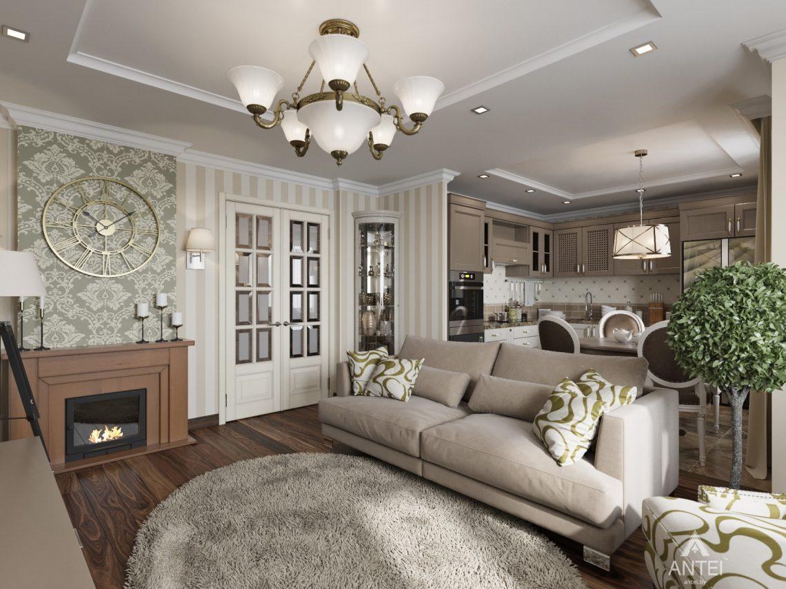 Дизайн интерьера квартиры в Гомеле, ул. Тельмана - кухня-гостиная фото №1