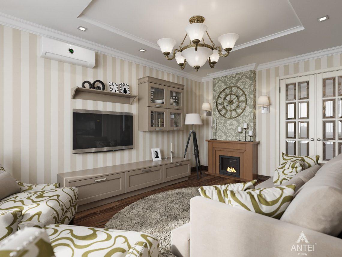 Дизайн интерьера квартиры в Гомеле, ул. Тельмана - кухня-гостиная фото №2