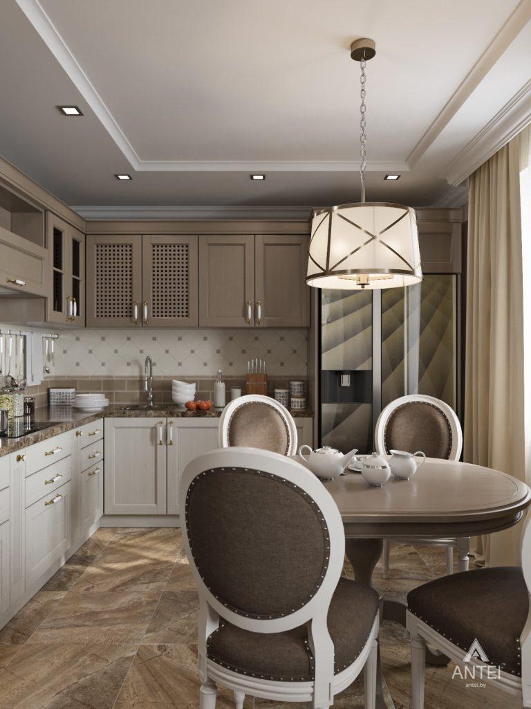 Дизайн интерьера квартиры в Гомеле, ул. Тельмана - кухня-гостиная фото №6
