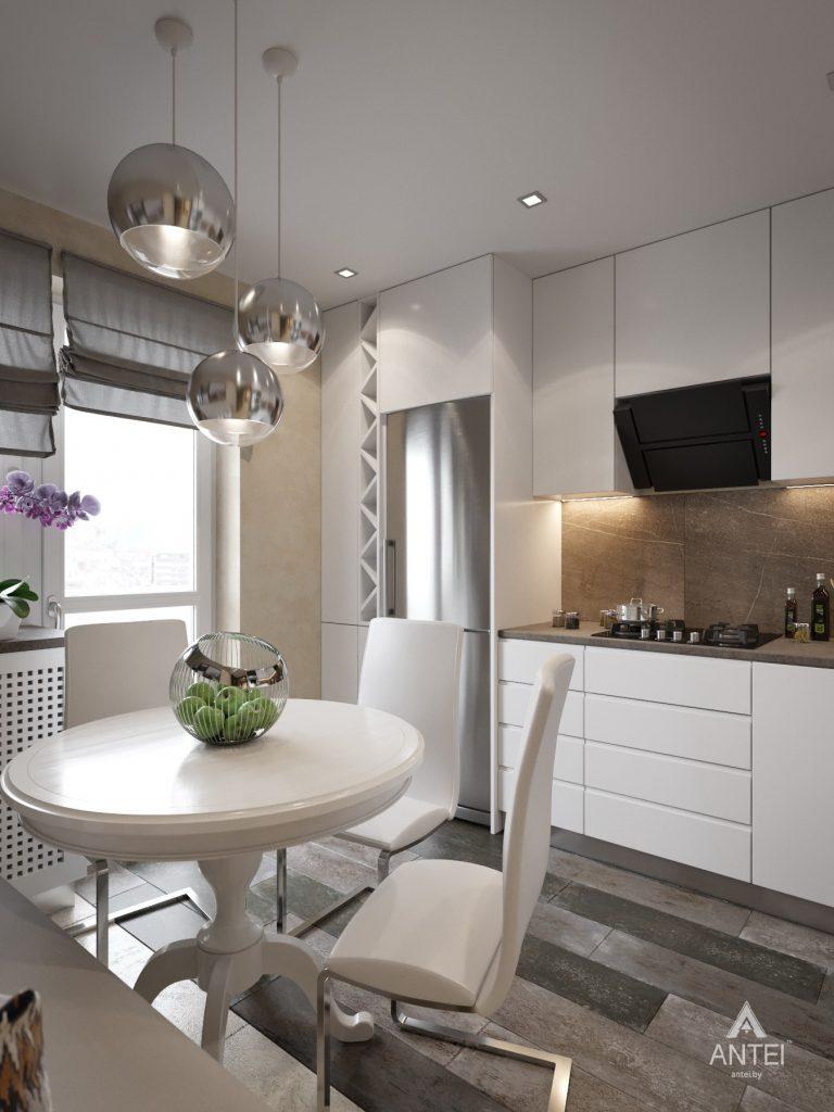 Дизайн интерьера квартиры в Гомеле, ул. Григория Денисенко - кухня фото №1