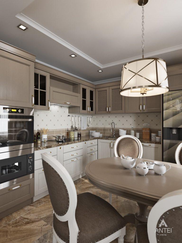 Дизайн интерьера квартиры в Гомеле, ул. Тельмана - кухня-гостиная фото №5