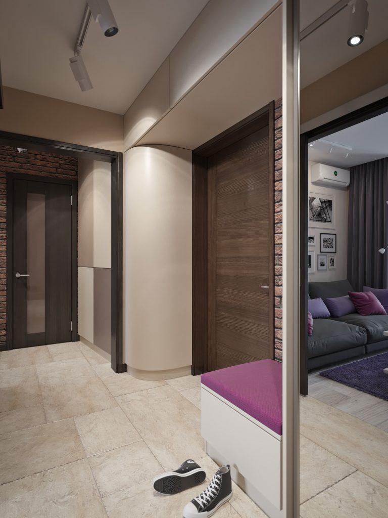Дизайн интерьера квартиры в Гомеле, ул. Григория Денисенко - прихожая фото №1