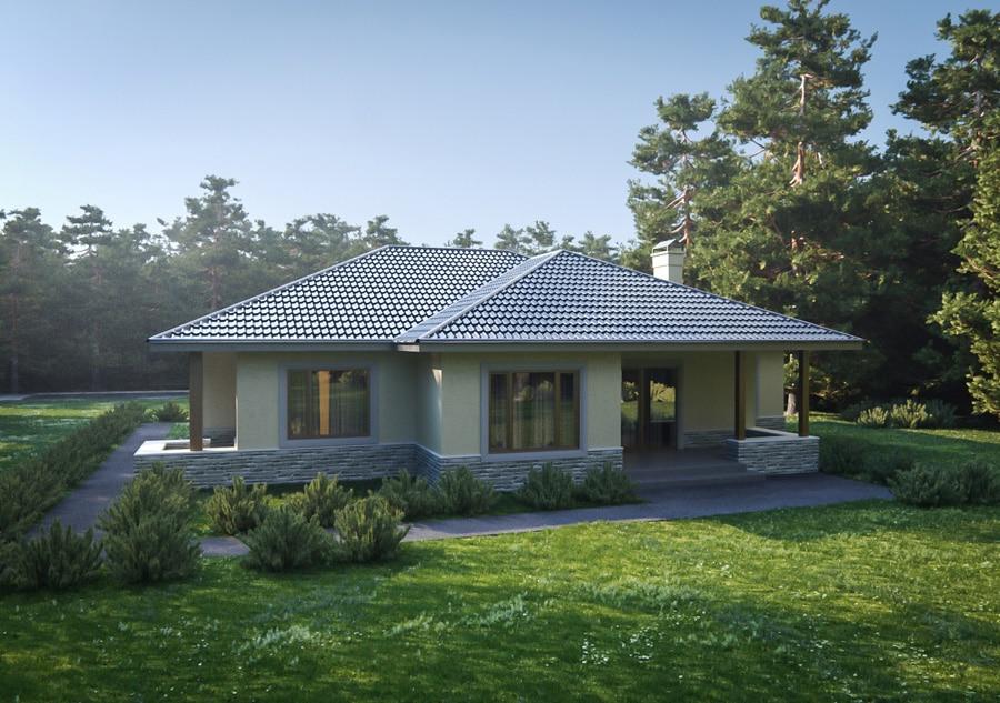 Проект одноэтажного дома с гаражом на 2 машины «КО-127» - фото №2