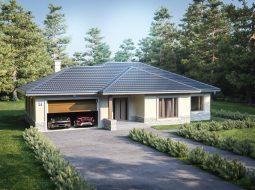 Проект одноэтажного дома с гаражом на 2 машины «КО-127»