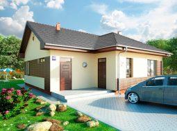 Проект одноэтажного дома с террасой «КО-128»