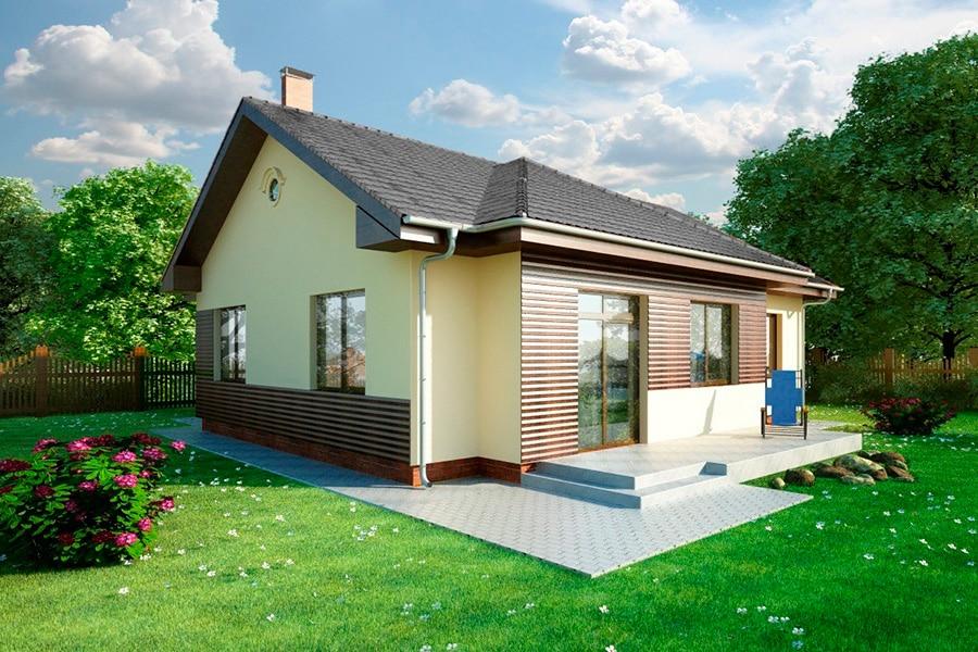 Проект одноэтажного дома с террасой «КО-128» - фото №2