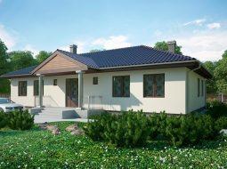 Проект одноэтажного дома с большой гостиной «КО-129»