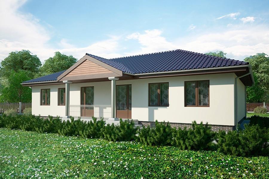 Проект одноэтажного дома с большой гостиной «КО-129» - фото №2