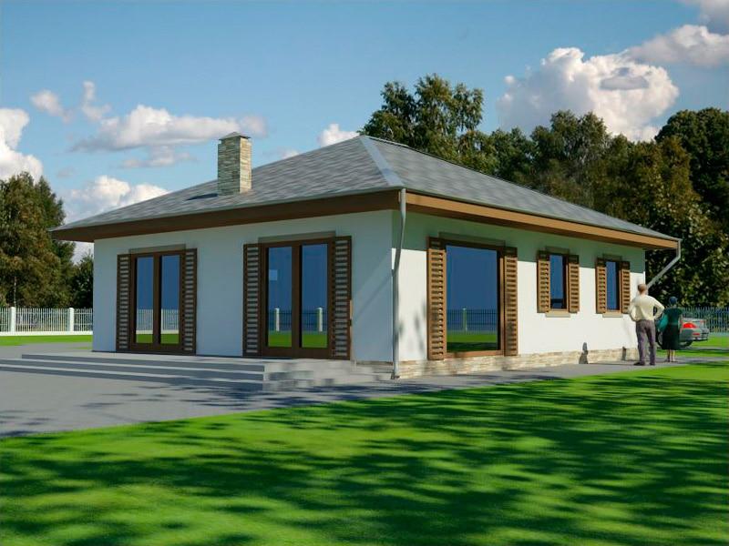 Проект небольшого одноэтажного дома с террасой «КО-130» - фото №2