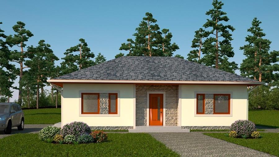 Проект одноэтажного дома «КО-131» - спереди