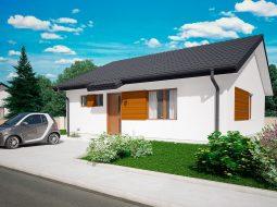 Проект одноэтажного дома c террасой «КО-133»