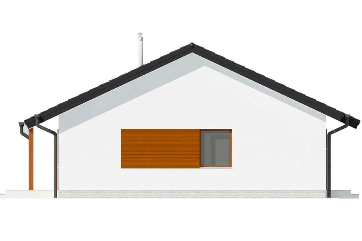 Фасад одноэтажного дома c террасой «КО-133» - слева