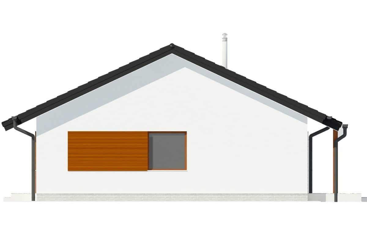 Фасад одноэтажного дома c террасой «КО-133» - справа