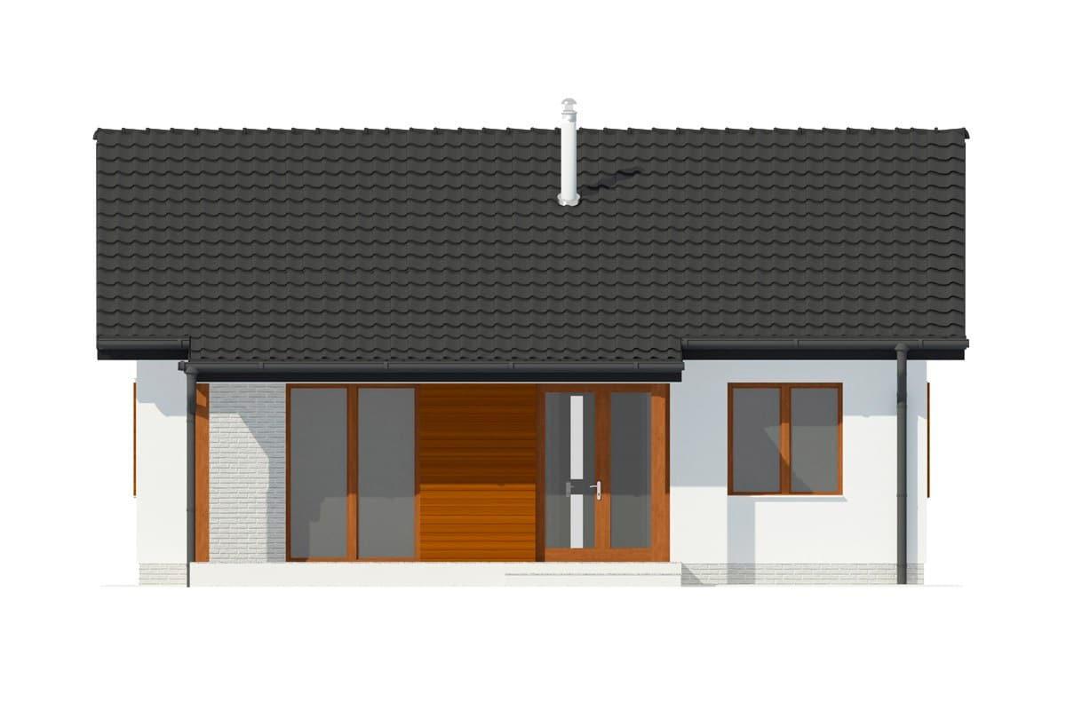 Фасад одноэтажного дома c террасой «КО-133» - сзади