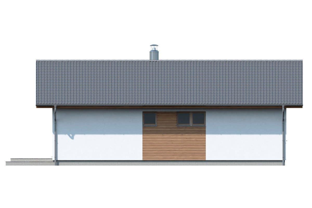 Фасад одноэтажного дома «КО-134» - сзади