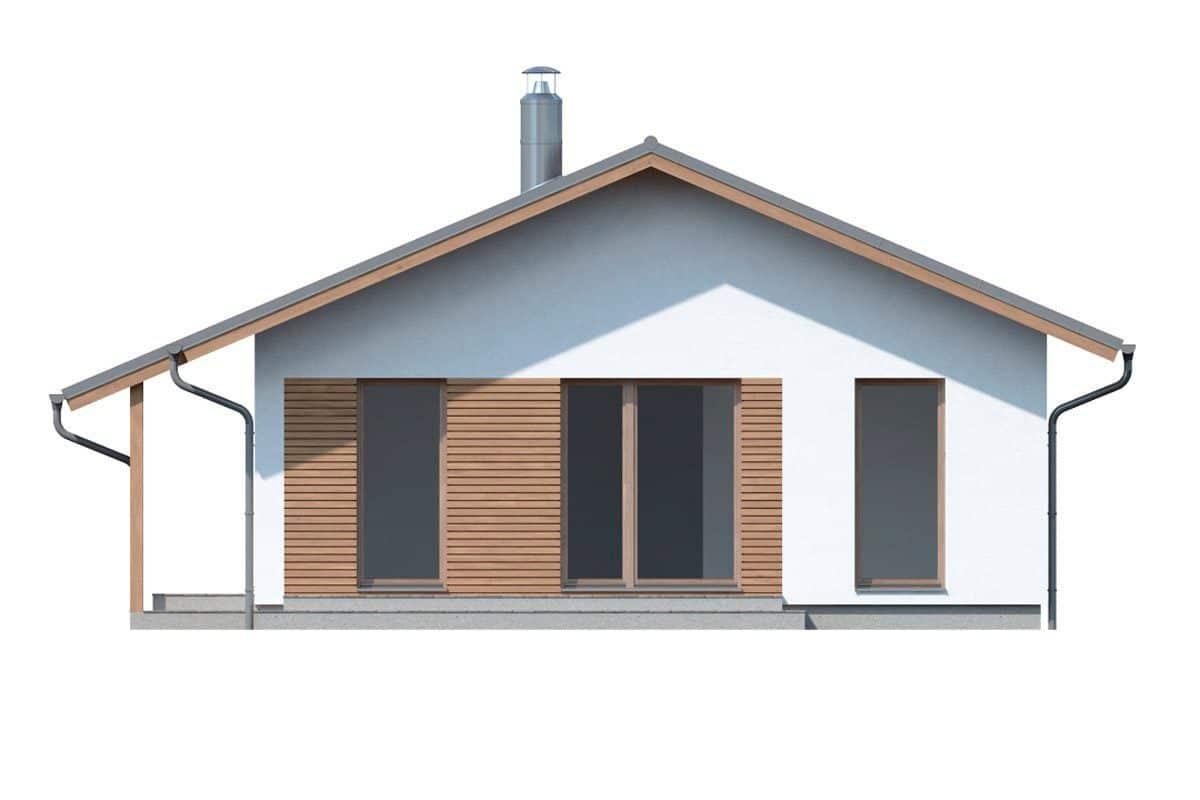 Фасад одноэтажного дома «КО-134» - слева