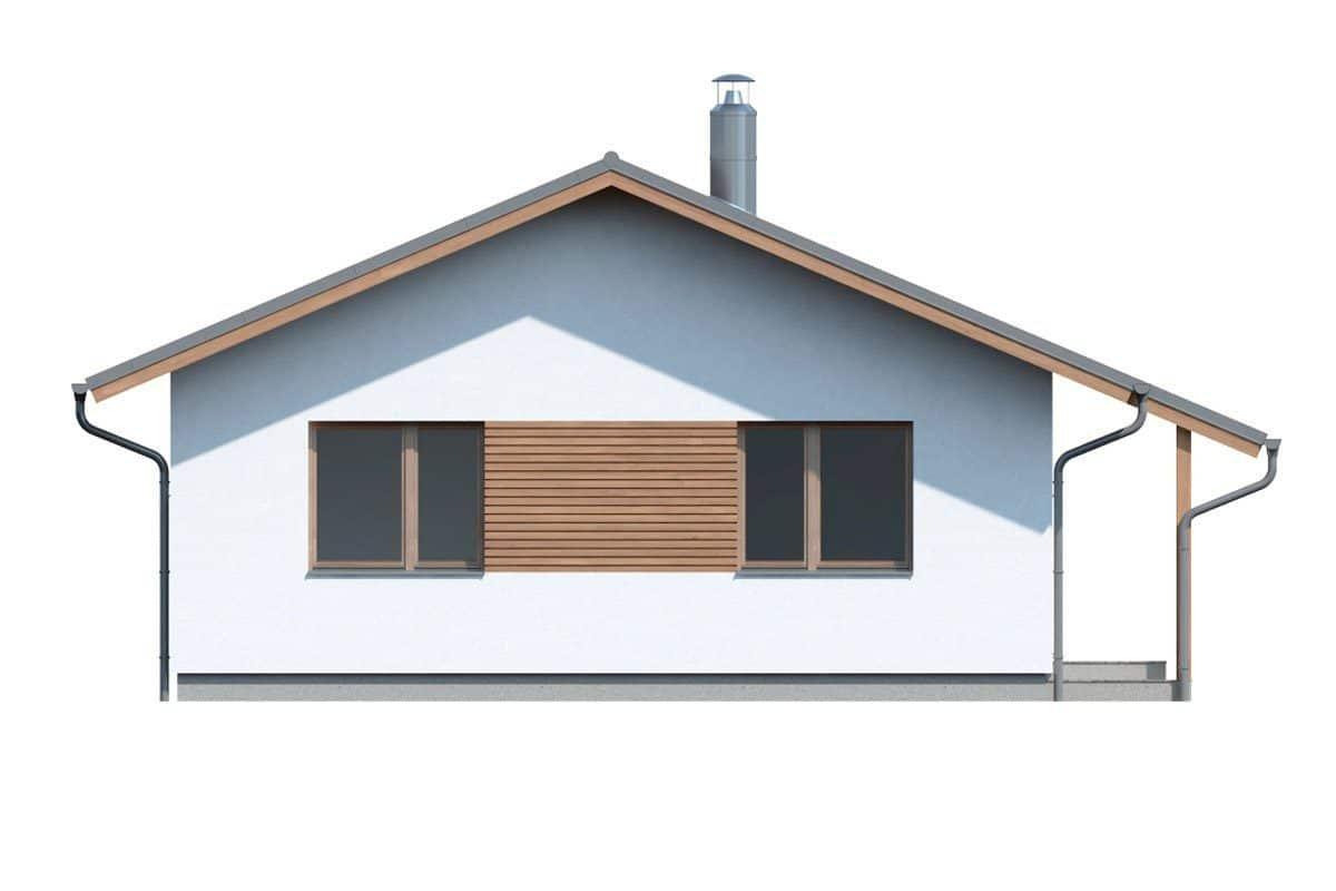 Фасад одноэтажного дома «КО-134» - справа