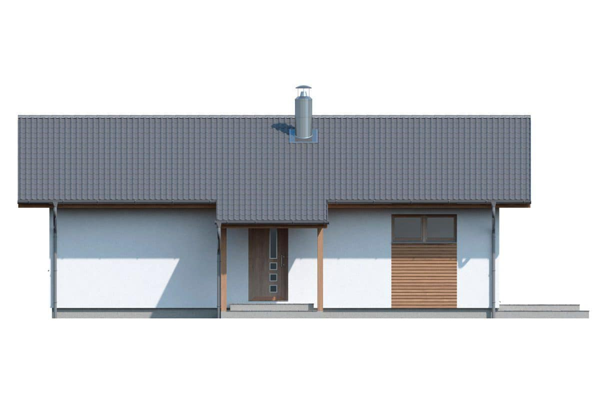 Фасад одноэтажного дома «КО-134» - спереди