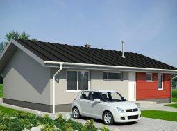 Проект одноэтажного дома c террасой «КО-135»