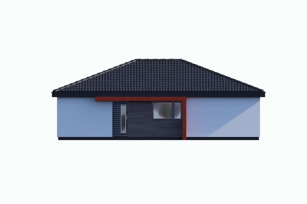 Фасад одноэтажного дома «КО-136» - спереди