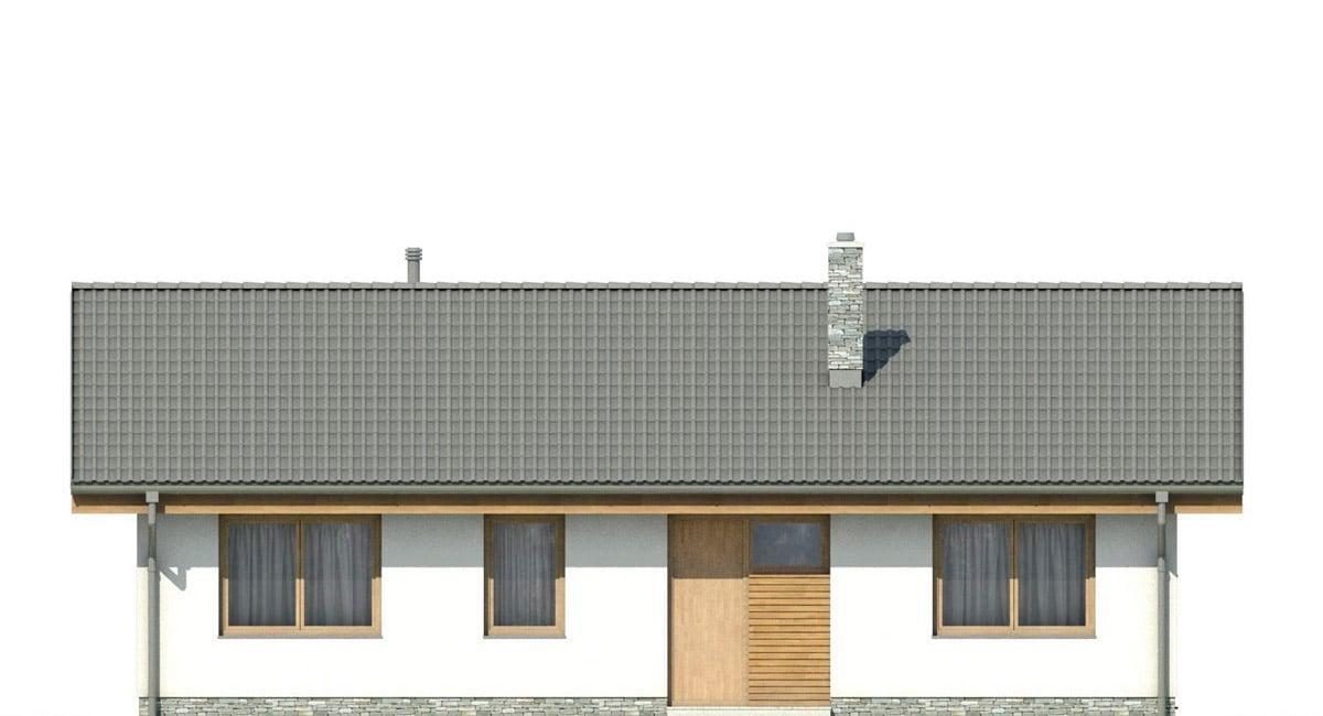 Фасад одноэтажного дома «КО-140» - спереди