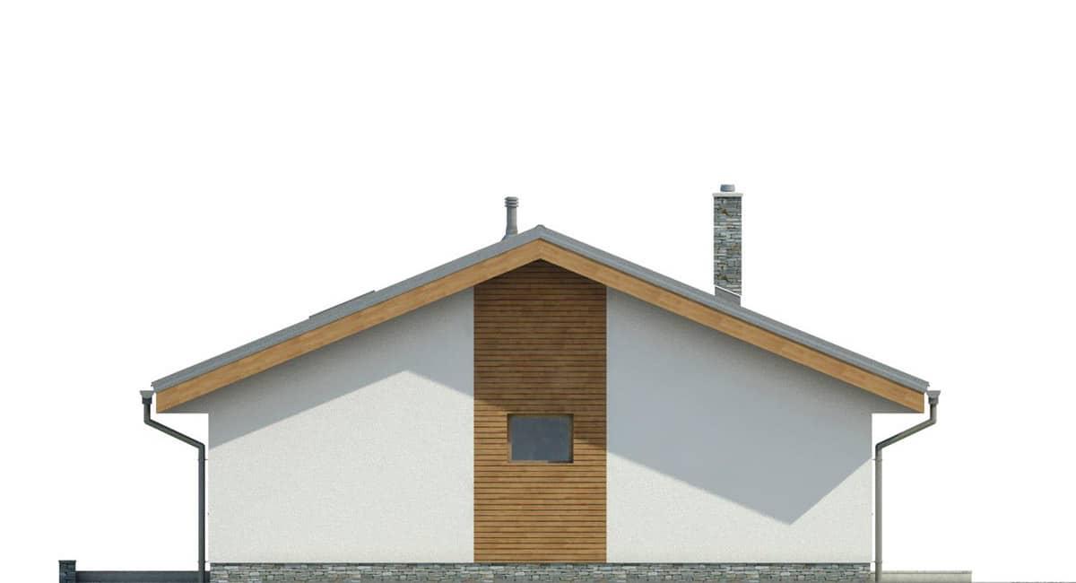 Фасад одноэтажного дома «КО-140» - справа