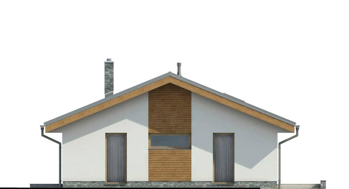 Фасад одноэтажного дома «КО-140» - слева