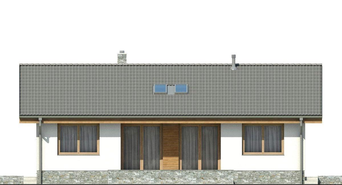 Фасад одноэтажного дома «КО-140» - сзади