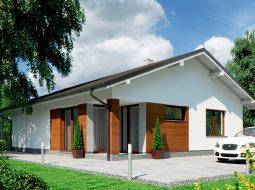 Проект одноэтажного дома c террасой «КО-143»