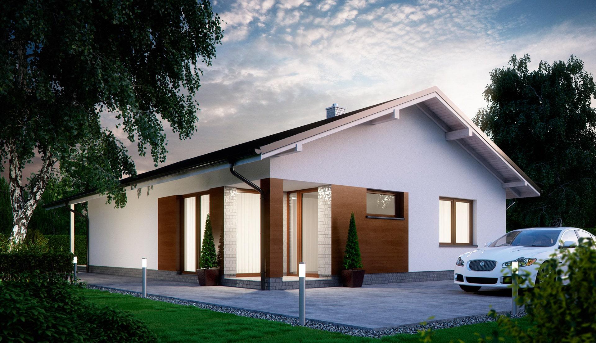 Проект одноэтажного дома c террасой «КО-143» - фото №2