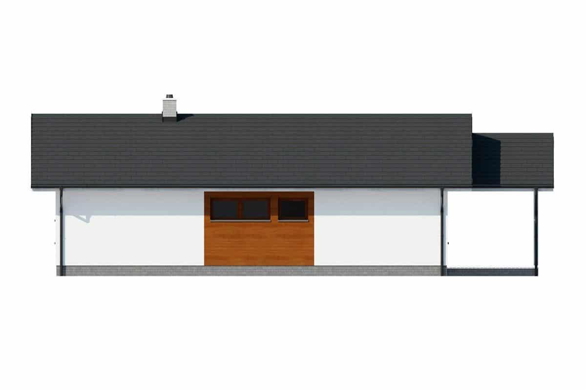 Фасад одноэтажного дома c террасой «КО-143» - справа