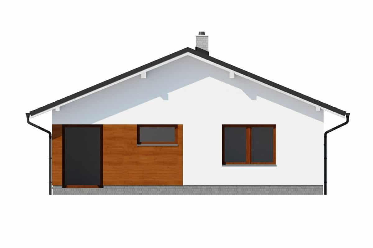 Фасад одноэтажного дома c террасой «КО-143» - спереди