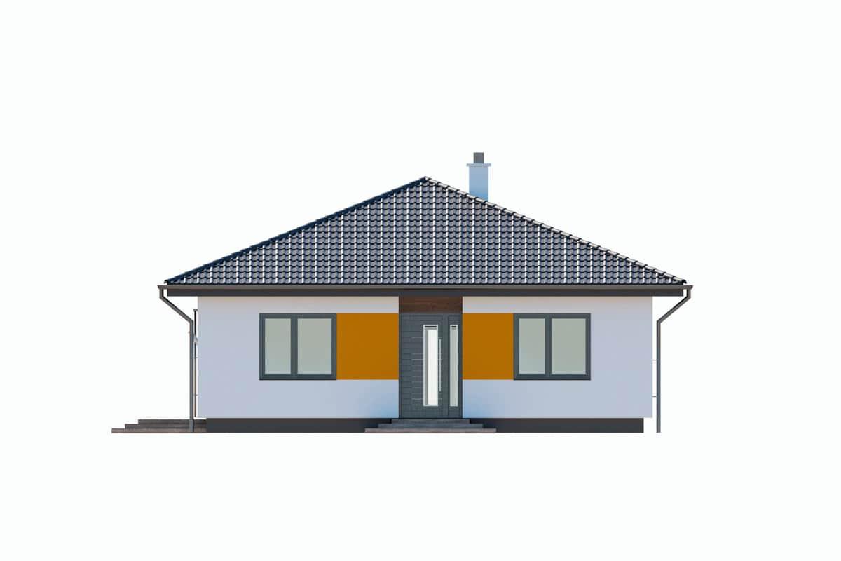 Фасад одноэтажного дома «КО-145» - спереди