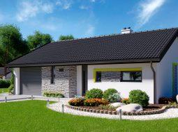Проект одноэтажного дома c гаражом «КО-147»
