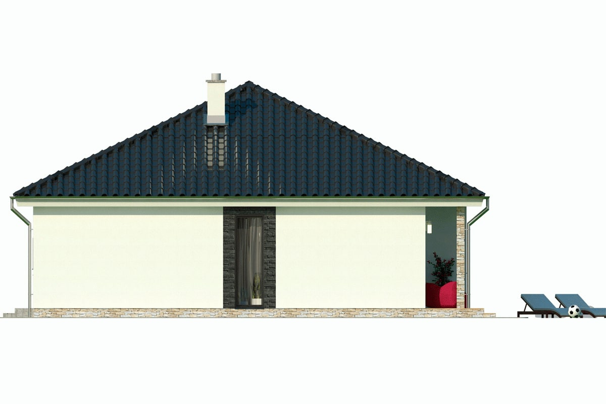 План этажа одноэтажного дома «КО-148» - справа