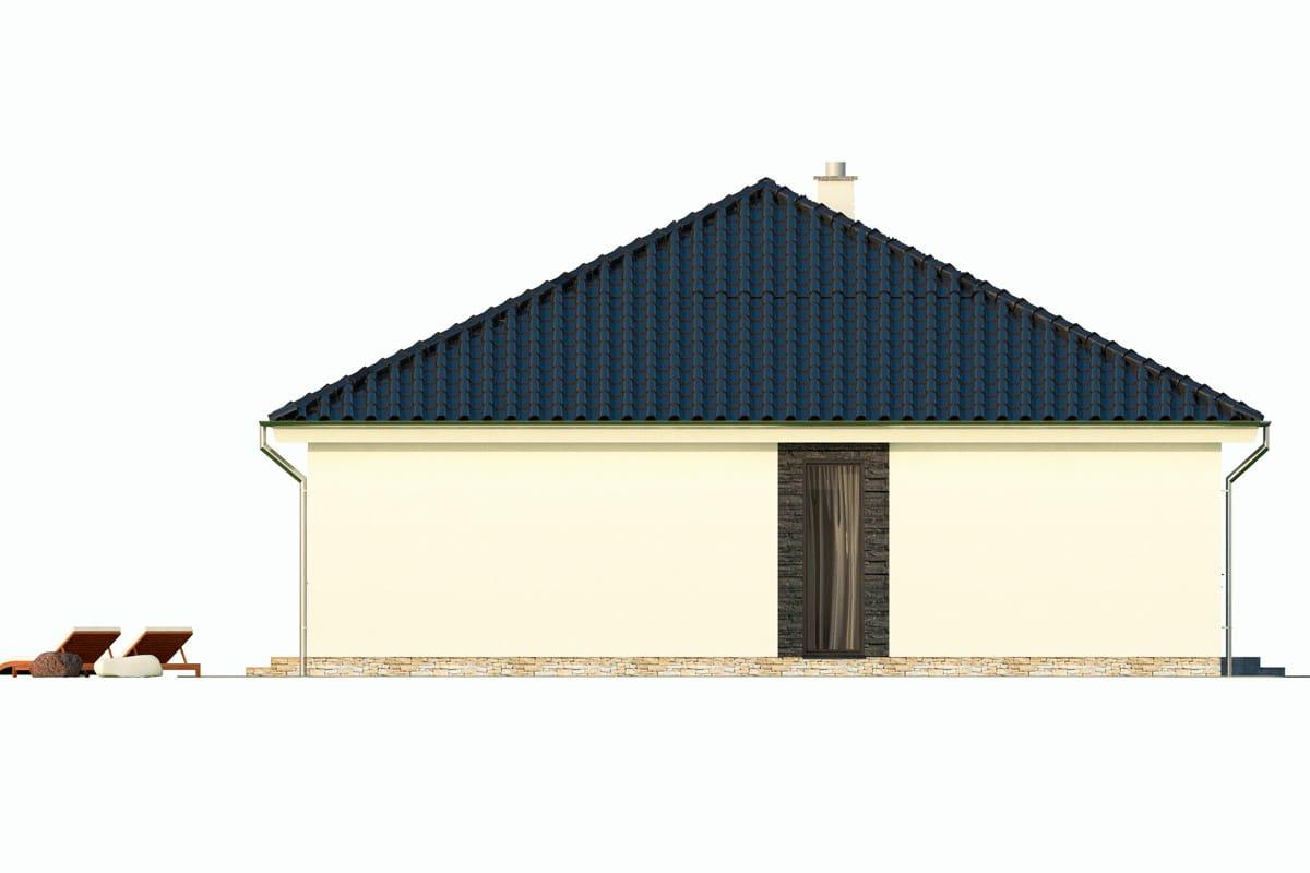 План этажа одноэтажного дома «КО-148» - слева