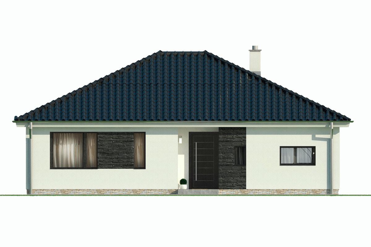 План этажа одноэтажного дома «КО-148» - спереди