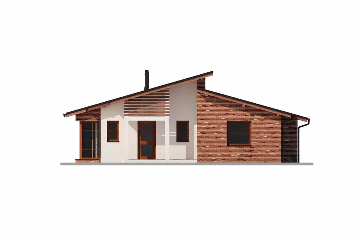 Фасад одноэтажного дома «КО-149» спереди