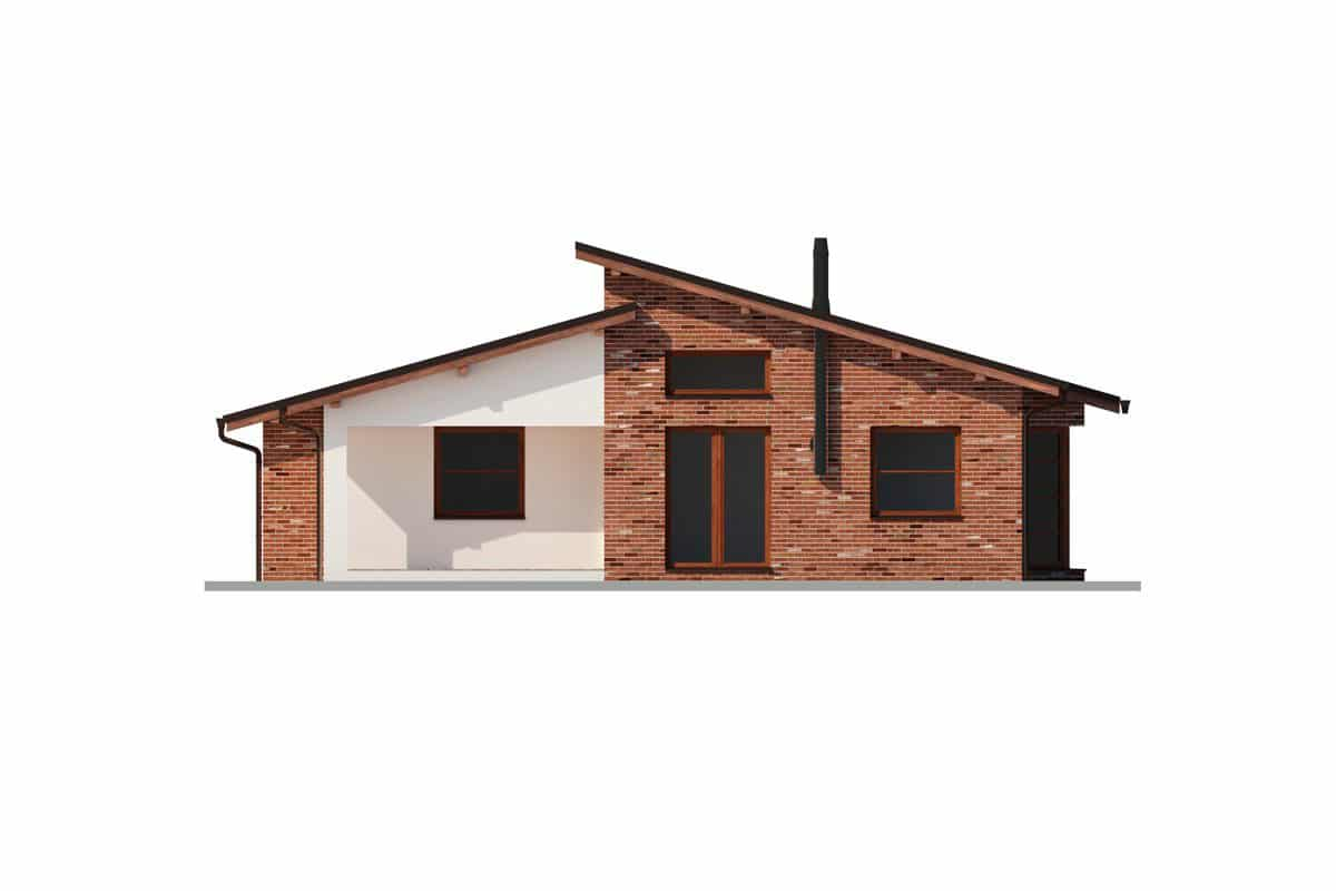 Фасад одноэтажного дома «КО-149» сзади