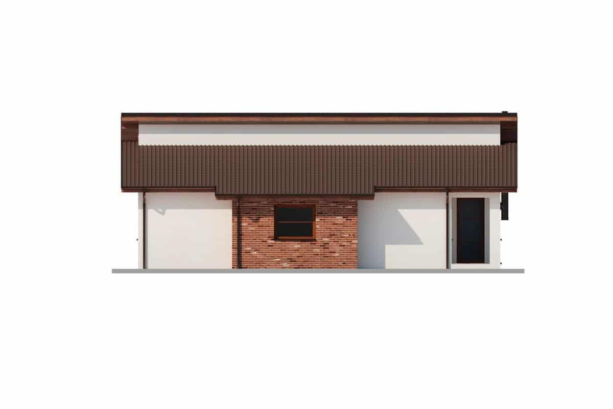 Фасад одноэтажного дома «КО-149» справа