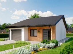 Проект одноэтажного дома c гаражом «КО-150»