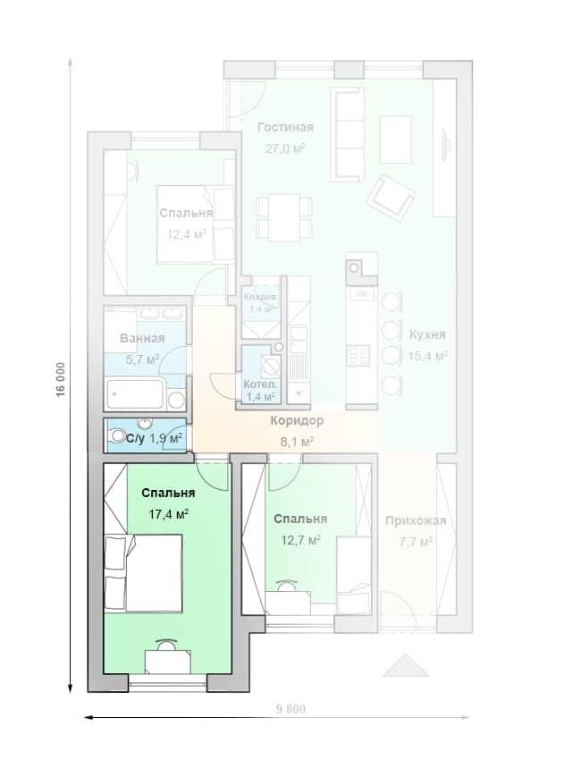 1 этаж (Вариант)
