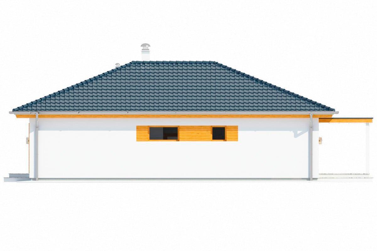 Фасад одноэтажного дома «КО-151» - справа