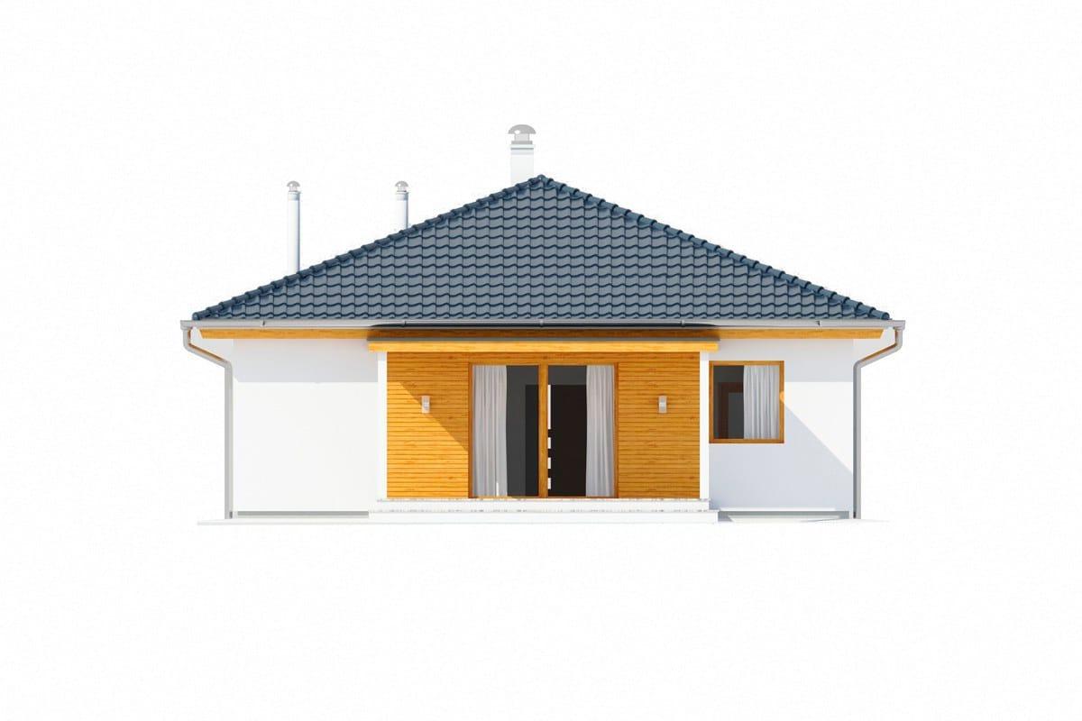 Фасад одноэтажного дома «КО-151» - сзади