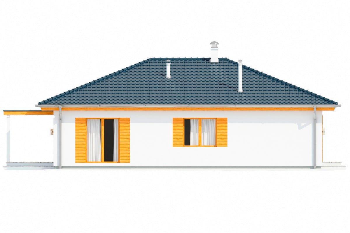 Фасад одноэтажного дома «КО-151» - слева
