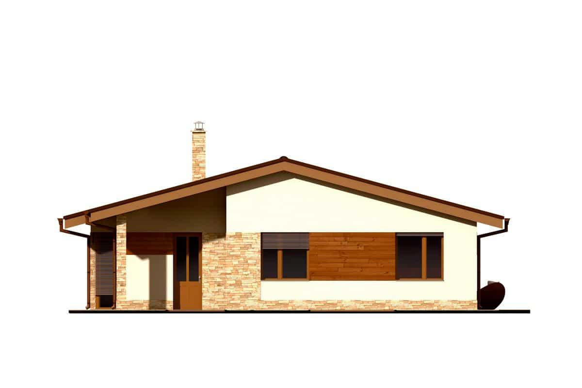 Фасад одноэтажного дома «КО-152» - спереди