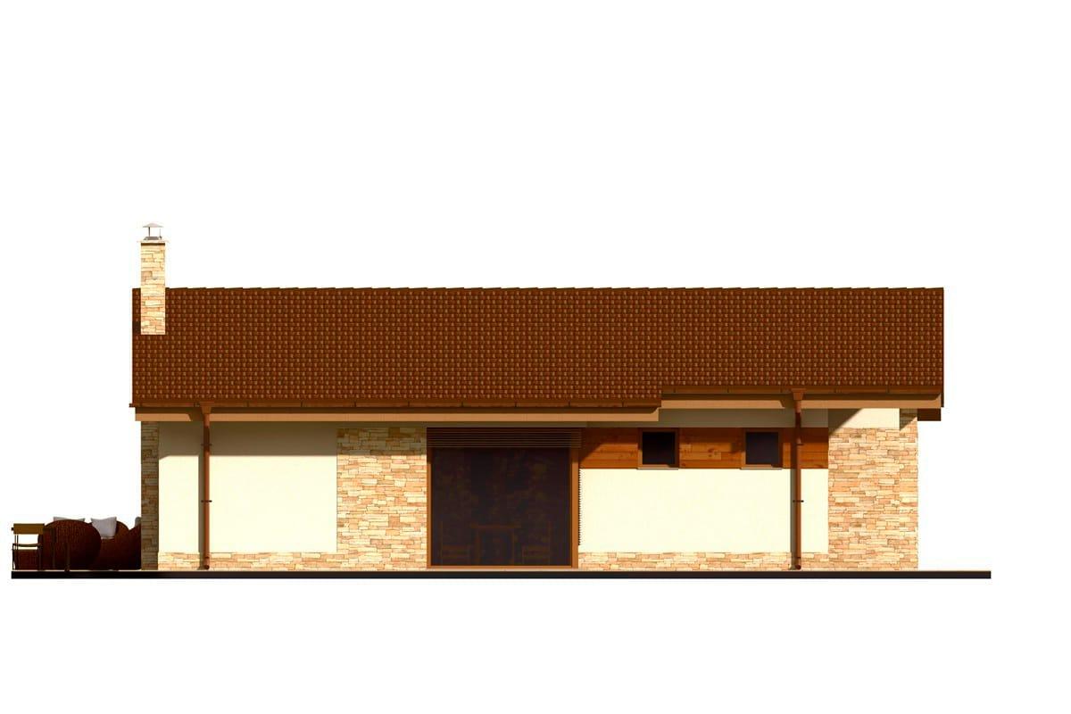 Фасад одноэтажного дома «КО-152» - слева