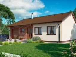 Проект одноэтажного дома «КО-153»