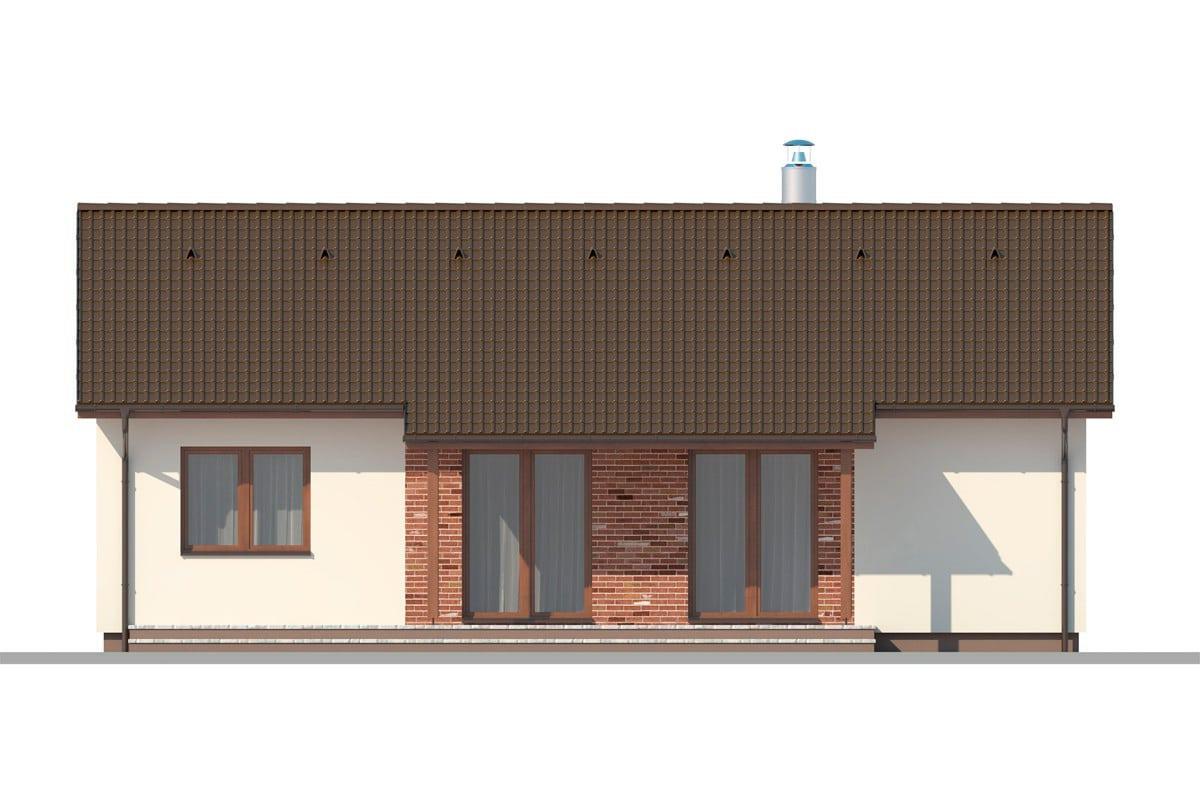 Фасад одноэтажного дома «КО-153» - сзади