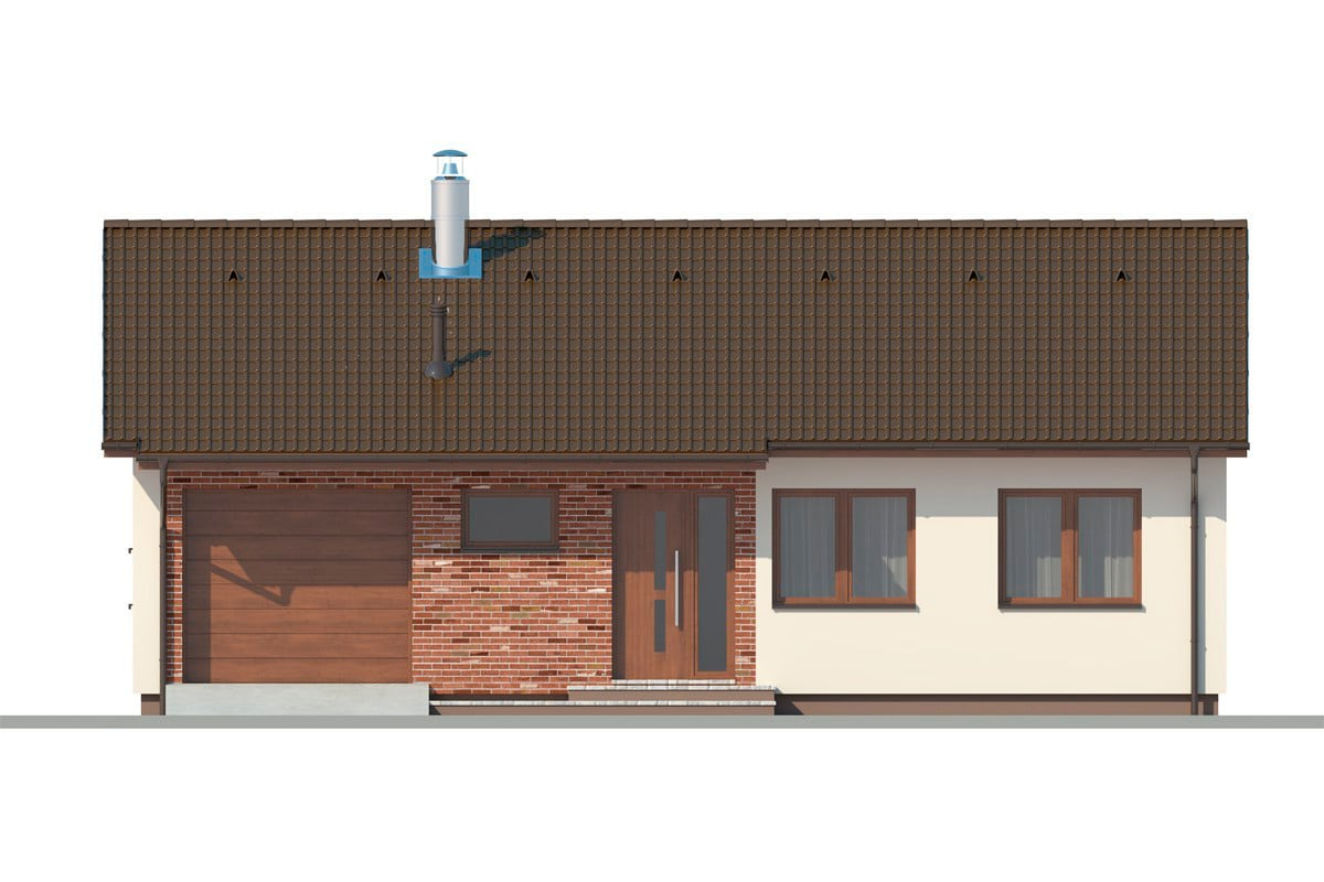 Фасад одноэтажного дома «КО-153» - спереди